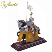 Miniature French Knight Of King Arthur On Horseback